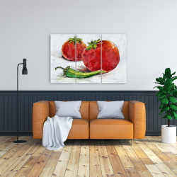 Canvas 24 x 36 - Tomatoes with jalapeño