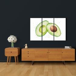 Canvas 24 x 36 - Watercolor open avocado