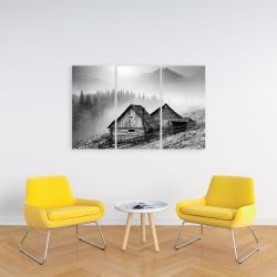 Canvas 24 x 36 - Mountain carpathian village