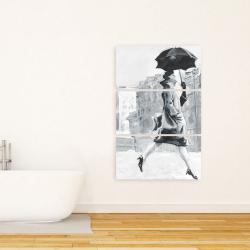 Canvas 24 x 36 - Woman in the rain