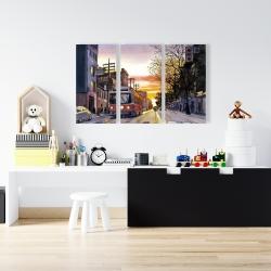 Canvas 24 x 36 - Sunset streetscape to toronto
