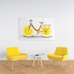 Canvas 24 x 36 - Lemon wheel bike