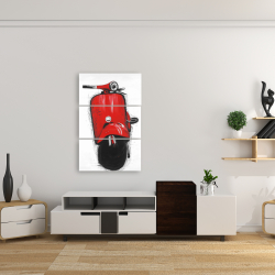 Canvas 24 x 36 - Red italian scooter