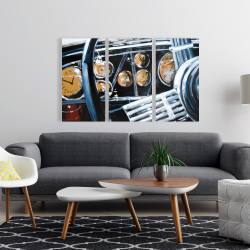 Canvas 24 x 36 - Vintage car interior