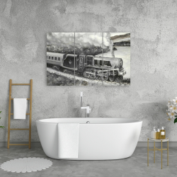 Canvas 24 x 36 - Vintage passenger locomotive
