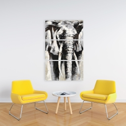 Canvas 24 x 36 - Grayscale elephant