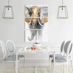 Canvas 24 x 36 - Golden elephant