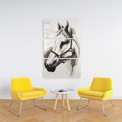 Canvas 24 x 36 - Flicka the white horse