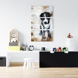 Canvas 24 x 36 - Sitting dog