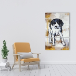 Canvas 24 x 36 - Curious puppy dog