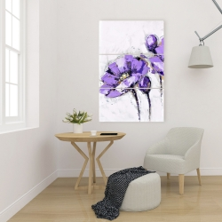 Canvas 24 x 36 - Purple abstract flowers
