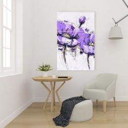 Canvas 24 x 36 - Purple anemone flowers
