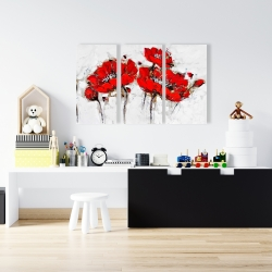 Canvas 24 x 36 - Abstract poppy flowers