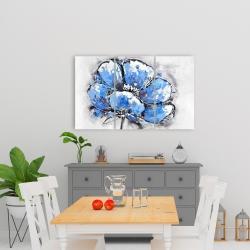Canvas 24 x 36 - Abstract blue petals