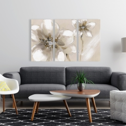 Canvas 24 x 36 - Two cream flowers