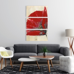Canvas 24 x 36 - Three red flowers