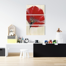 Canvas 24 x 36 - Two red flowers