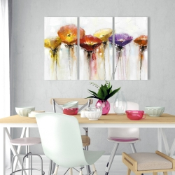 Canvas 24 x 36 - Multiple colorful abstract flowers