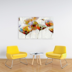 Canvas 24 x 36 - Color dotted flowers