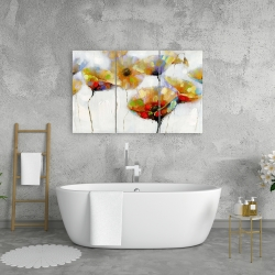 Canvas 24 x 36 - Color spotted flowers