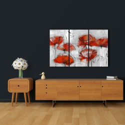 Canvas 24 x 36 - Abstract poppies