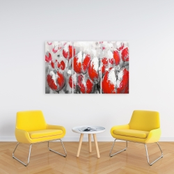 Canvas 24 x 36 - Abstract red tulips