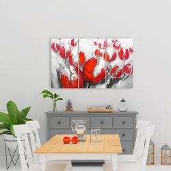 Canvas 24 x 36 - Red tulips
