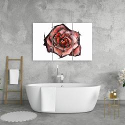 Canvas 24 x 36 - Watercolor rose