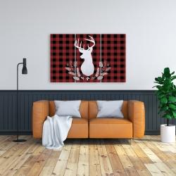 Canvas 24 x 36 - Deer plaid