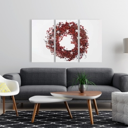 Canvas 24 x 36 - Red berry wreath