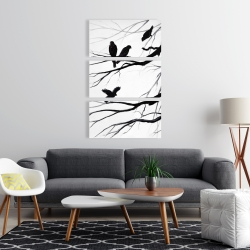 Canvas 24 x 36 - Silhouette of birds