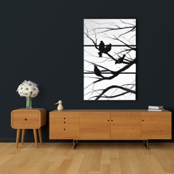 Canvas 24 x 36 - Birds and branches silhouette
