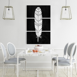 Canvas 24 x 36 - Native american feather