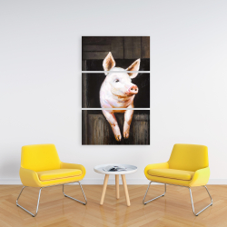 Canvas 24 x 36 - Smiling pig