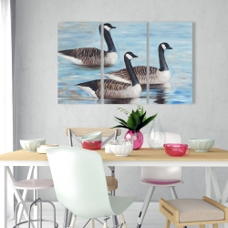 Canvas 24 x 36 - Canada geese in water