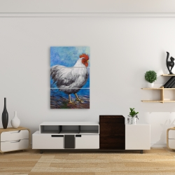 Canvas 24 x 36 - Grey rooster