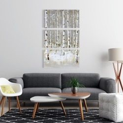 Canvas 24 x 36 - Birch forest by winter