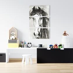 Canvas 24 x 36 - Beautiful wild horse