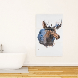 Canvas 24 x 36 - Abstract blue moose