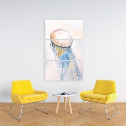 Canvas 24 x 36 - Watercolor jellyfish