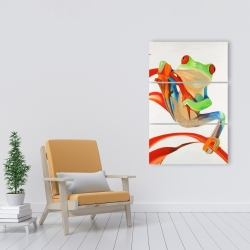 Canvas 24 x 36 - Red-eyed frog