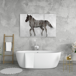 Canvas 24 x 36 - Gambading abstract horse
