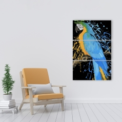 Canvas 24 x 36 - Blue macaw parrot
