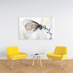 Canvas 24 x 36 - Butterfly on blue flowers