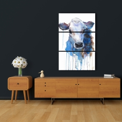Canvas 24 x 36 - Watercolor jersey cow
