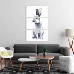 Canvas 24 x 36 - Gray curious rabbit