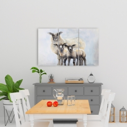 Canvas 24 x 36 - Sheep family
