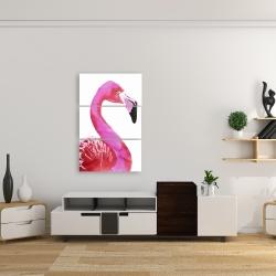 Canvas 24 x 36 - Watercolor proud flamingo profile
