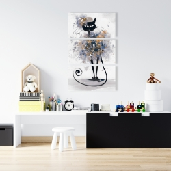 Canvas 24 x 36 - Cartoon black cat