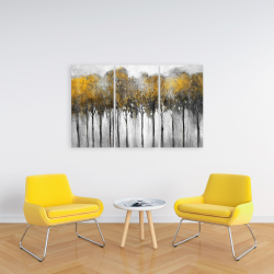 Canvas 24 x 36 - Abstract yellow forest